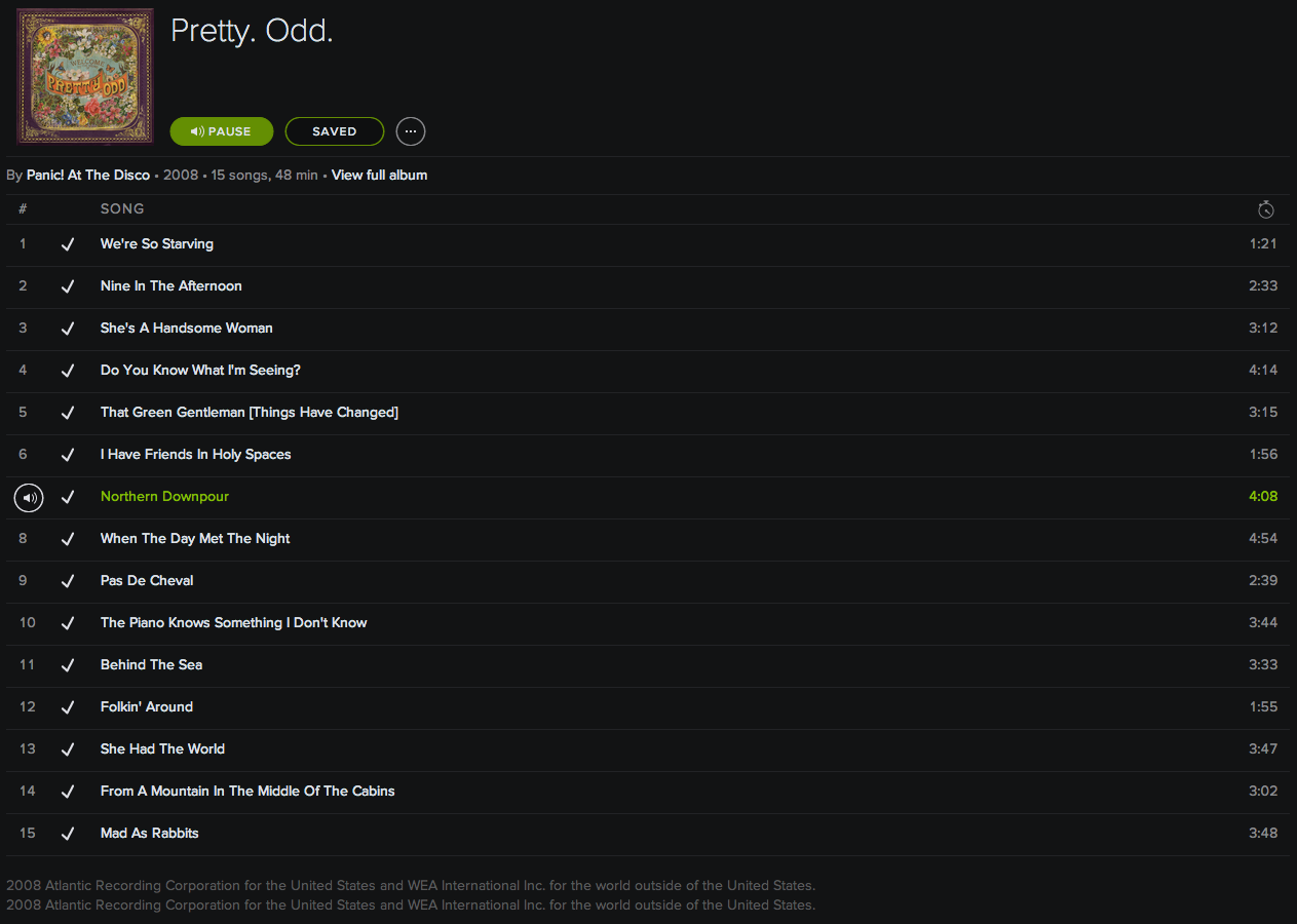 spotify – iTunes, A to Z